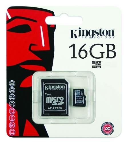 Cartão Memória Micro SD Kingston 16gb + 1 Adaptador