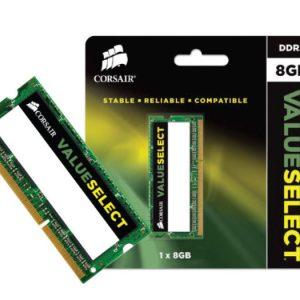 Memória Notebook Corsair 8Gb CL9 1600MHz DDR3L Low Volt